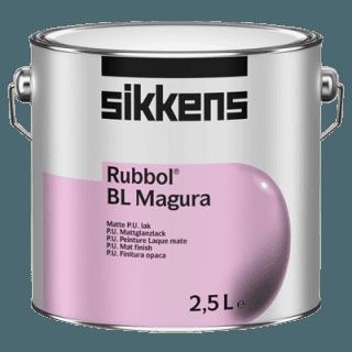 barattolo vernice a marchio SIKKENS  RUBBOL BL MAGURA