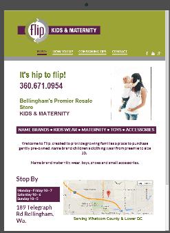 Flip Kids & Maternity Responsive Web Design