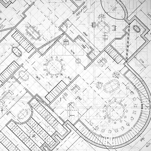 black and white floor plan sketch of a building