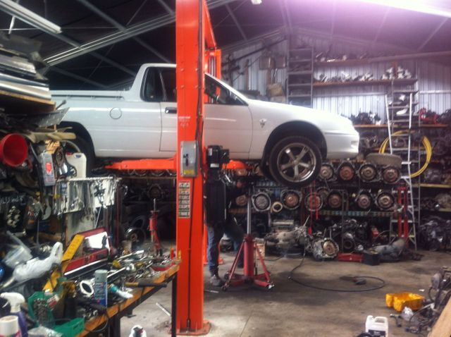 Working at Holden service workshop in New Plymouth