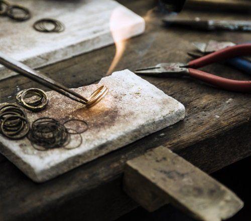 saldatura anello d'oro