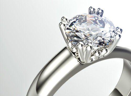 anello con grande brillante