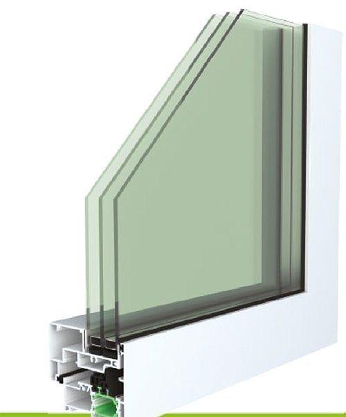 Finestra in alluminio e PVC con triplo vetro- CX MINIMAL A BATTENTE