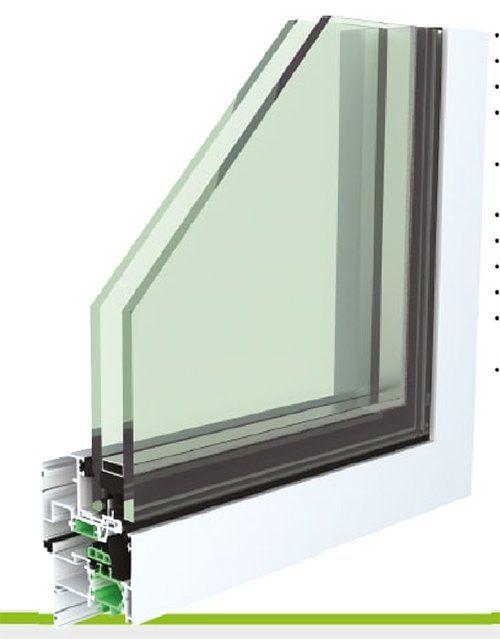 Finestra in alluminio e PVC con doppio vetro- CX LUXURY A BATTENTE