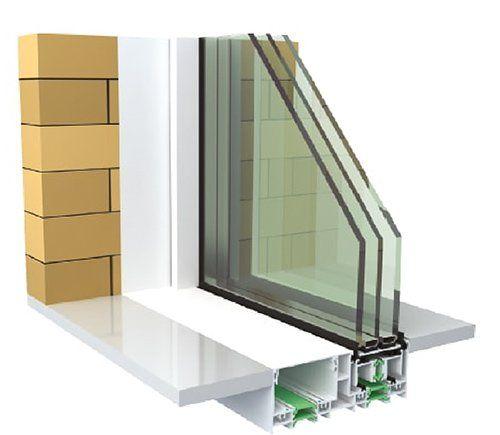 Finestra in alluminio e PVC con triplo vetro- SX MINIMAL SCORREVOLE