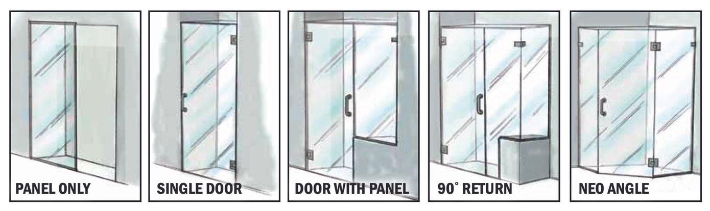 玻璃淋浴门配置