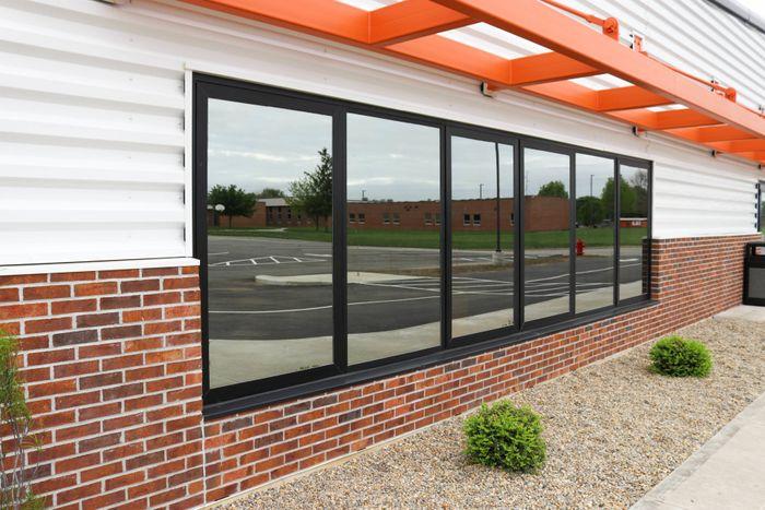 商用窗,玻璃镜面玻璃