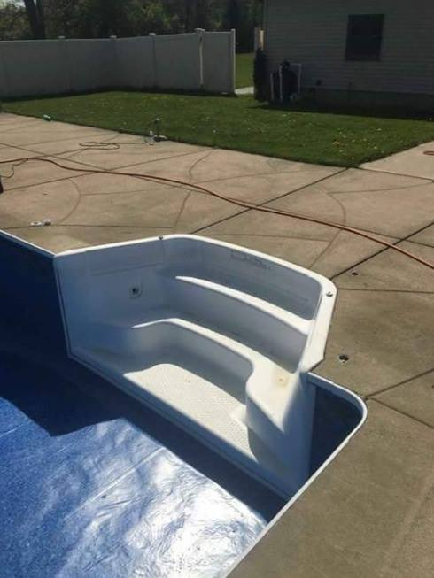 new stairs for an inground pool