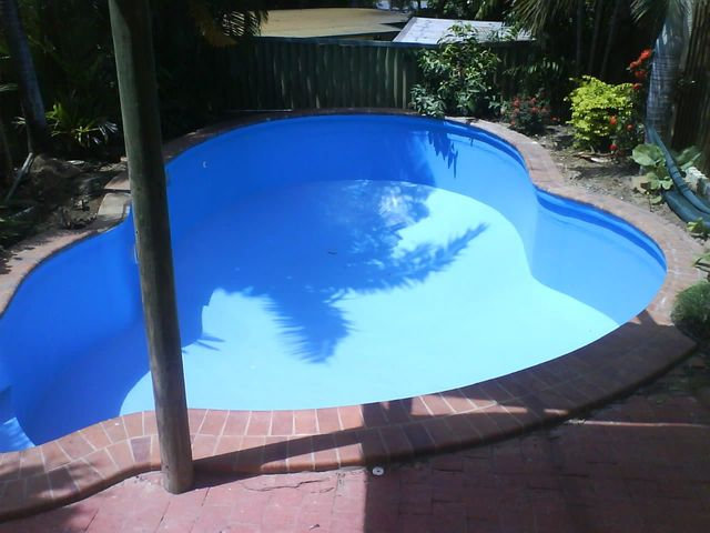 Completed work on Pool Resurfacing Sapphire Blue colour pool
