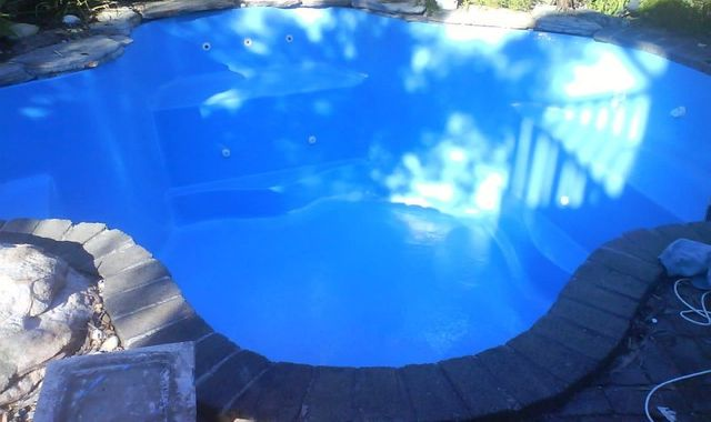 Repaired and resurfacing done on the pool