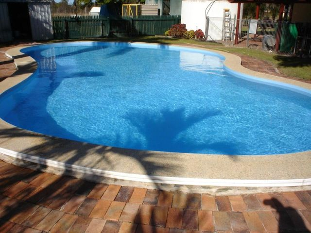 View of the pool after fibreglass resurfacing