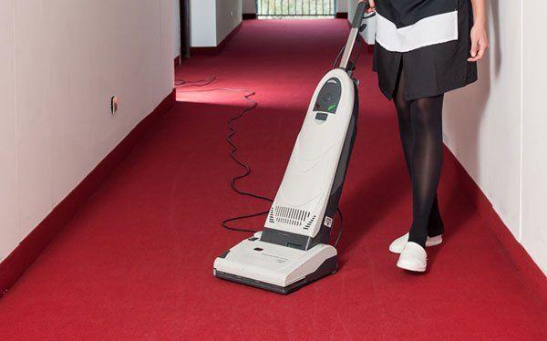 Donna pulisce il tappeto-Puli.Gest sas