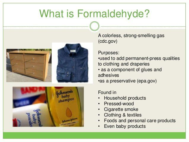 Formaldehyde sources