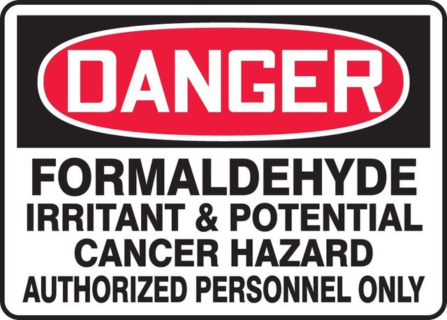 Formaldehyde warning