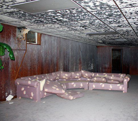 Water-damaged basement