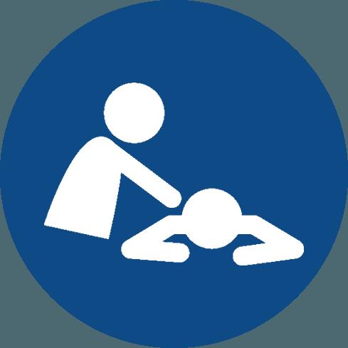 Icona di un omino che massaggia un altro omino