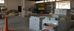 materiale edile in un magazzino
