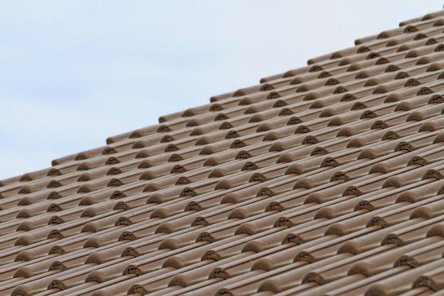 le tegole di un tetto