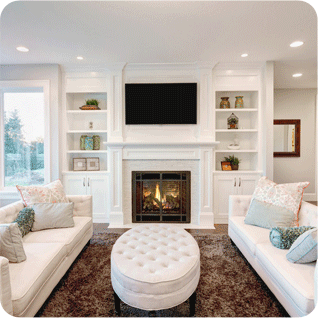 A living room with beautiful furnishings