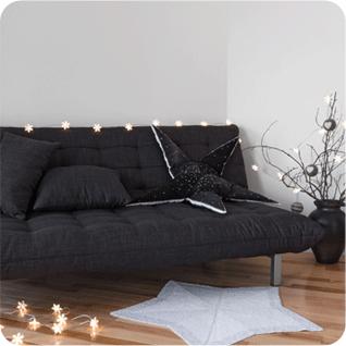 A sofa bed