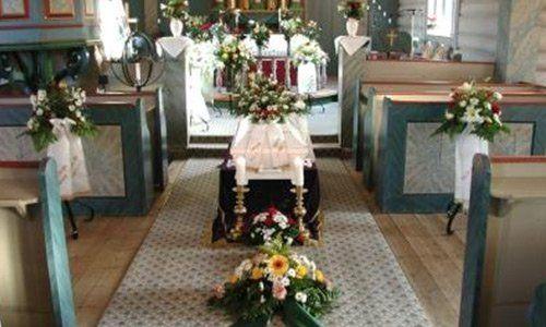 Addobbi per funerale organizzato da Onoranze Funebri Calafiore a Palermo