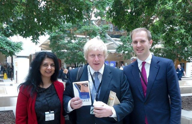 Sarbjit with Boris Johnson & James Berry MP