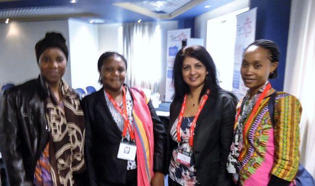 Sarbjit and thee women at the International Association of Women Police - 53rd Annual Training Conference