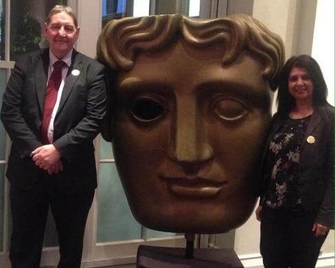 Clive Driscoll and Sarbjit Athwal at the London Bafta
