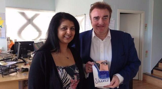 Sarbjt with Tommy Sheppard MP for Scotland