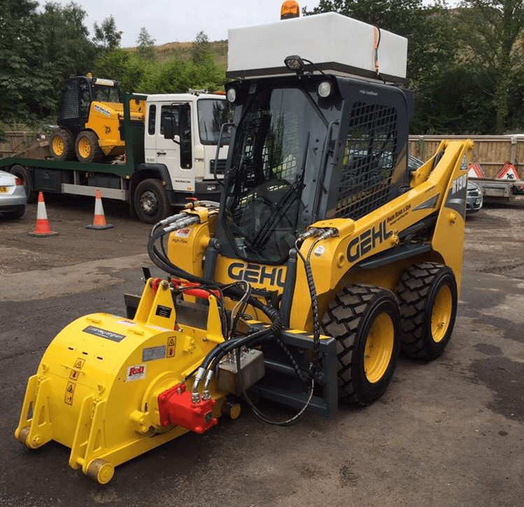 Mechanical sweeper and skid steer hire
