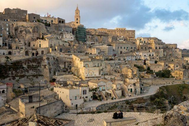 vista dall'alto della citta' di Matera