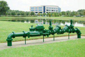 A green backflow preventer