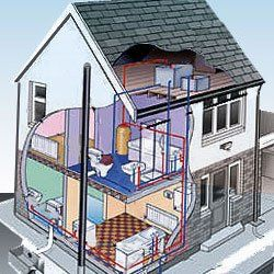 Newly built home with heating and cooling systems installed by Biggerstaffs
