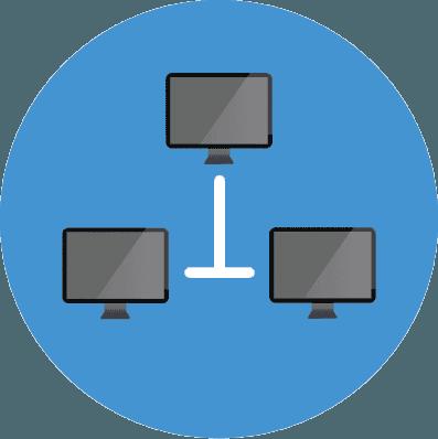 icona condivisione di rete