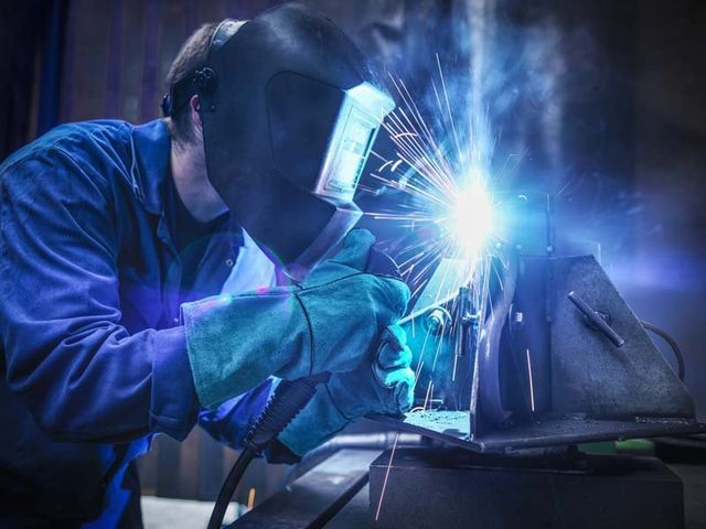 welding in progress