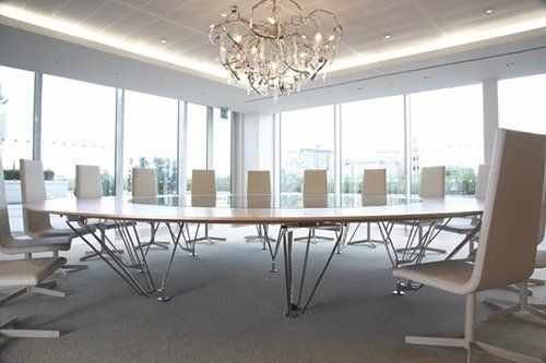 conference room with bespoke table