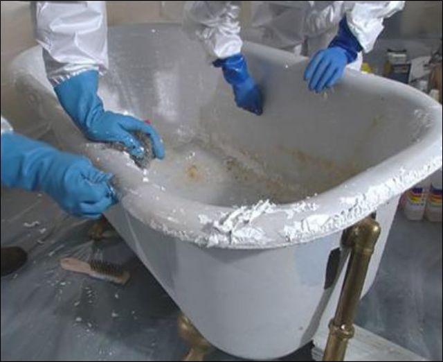 Can Appliance Paint Be Used To Refinish Tub