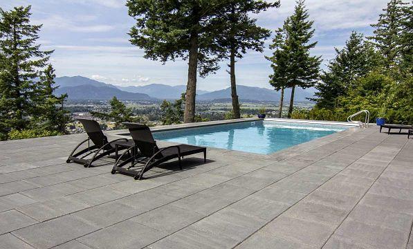 HydraPressed slabs used for pool deck.