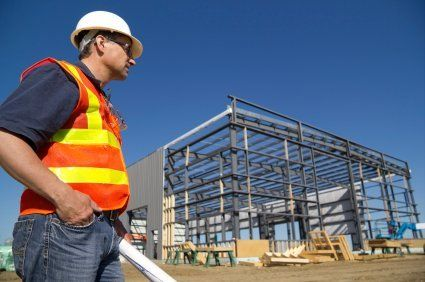 Professional working on construction project