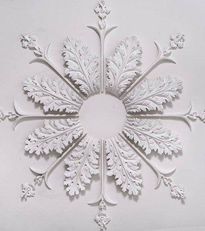 snow shaped design
