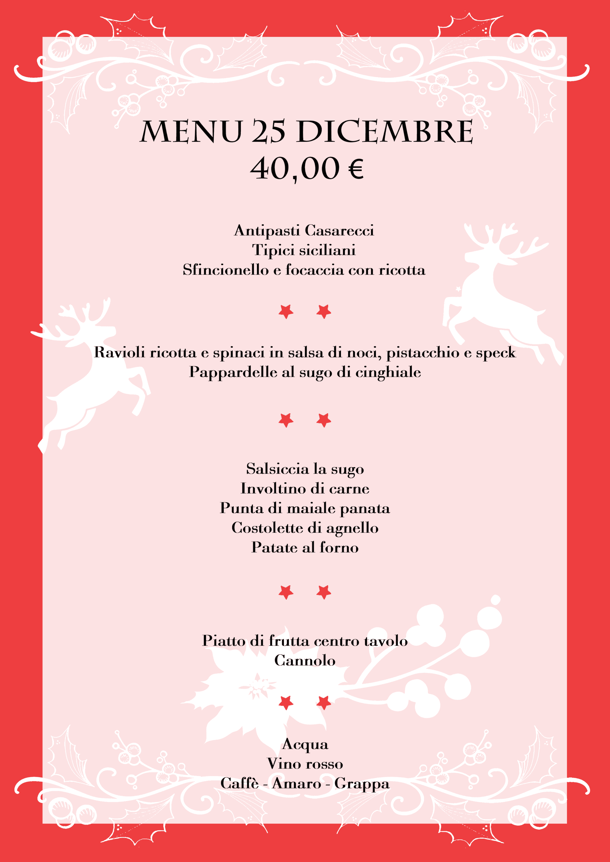 menu pranzo natale