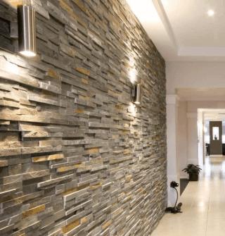 dettaglio muro interno con corridoio