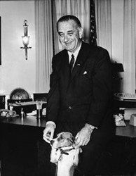 President Johnson with Beagle