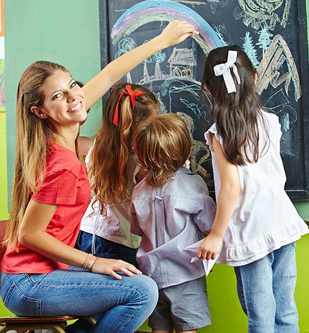 Fun and learning at childcare