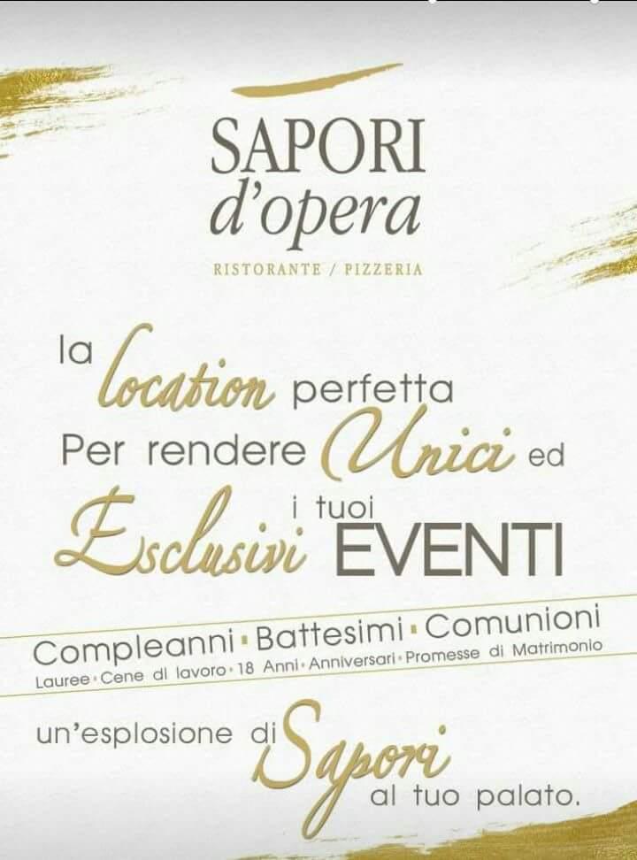 Locandina pubblicitaria Sapori d'Opera