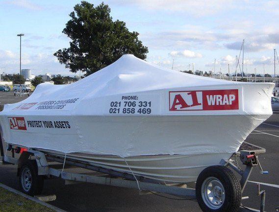Marine boat wrapping services
