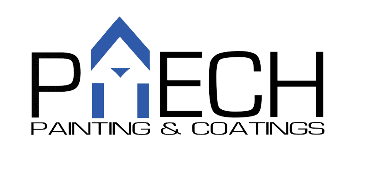 paech painting & coatings logo logo