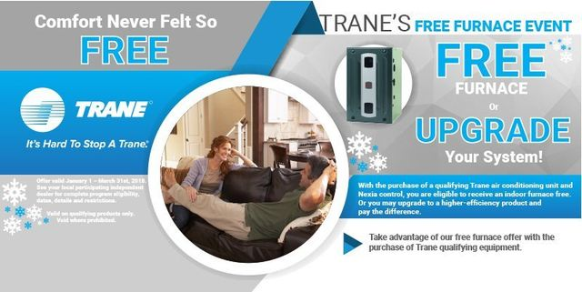 Free Furnace or Upgrade offer from Trane