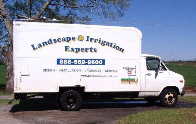 Landscaping at work in Enterprise, AL