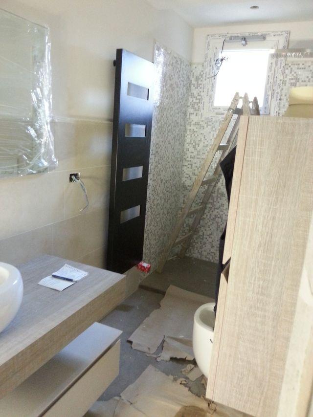 Vista ristrutturazione di un bagno
